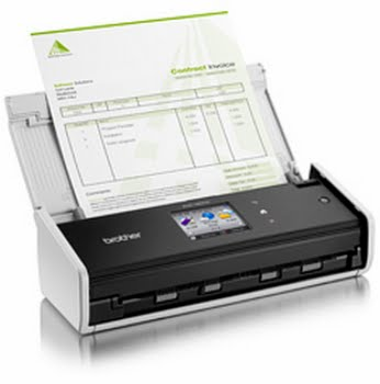 Brother ADS-1600W ADF 600 x 600DPI A4 Zwart, Wit scanner