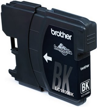 Brother LC-1100BK Black Ink Cartridge Zwart