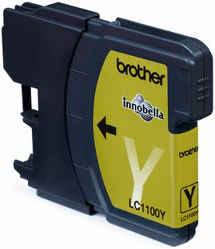 Brother LC-1100Y Yellow Ink Cartridge Geel