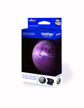 Brother LC-1220BK Zwart inktcartridge