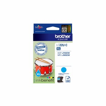 Brother LC-22UC 1200pagina's Cyaan inktcartridge