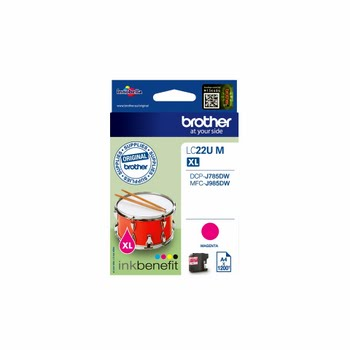 Brother LC-22UM 1200pagina's Magenta inktcartridge