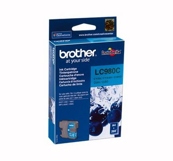 Brother LC-980C Cyaan inktcartridge