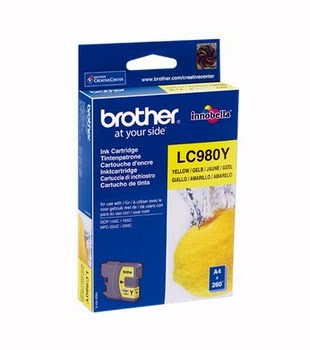Brother LC-980Y Geel inktcartridge