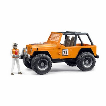 Bruder Jeep Cross Country racer met bestuurder - oranje