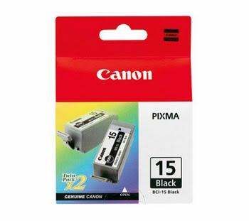 Canon BCI-15BK, 2-pack Zwart