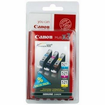 Canon CLI-521 C/M/Y Cyaan, Geel