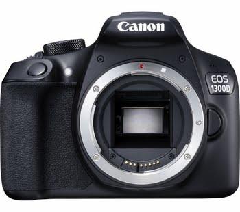 Canon EOS 1300D BODY 18MP CMOS 5184 x 3456Pixels Zwart