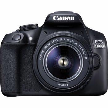 Canon EOS 1300D + EF-S 18-55 DC III 18MP CMOS 5184 x 3456Pixels Zwart