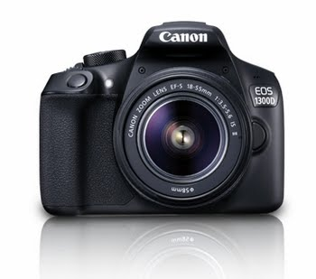 Canon EOS 1300D + EF-S 18-55 IS II 18MP CMOS 5184 x 3456Pixels Zwart