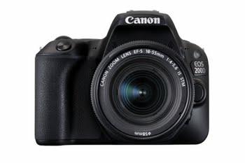 Canon EOS 200D + EF-S 18-55mm 4.0-5.6 IS STM SLR camerakit 24.2MP CMOS 6000 x 4000Pixels Zwart