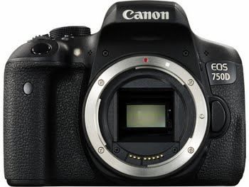Canon EOS 750D 24.2MP CMOS 6000 x 4000Pixels Zwart