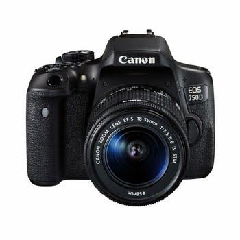 Canon EOS 750D + EF-S 18-55mm 24.2MP CMOS 6000 x 4000Pixels Zwart