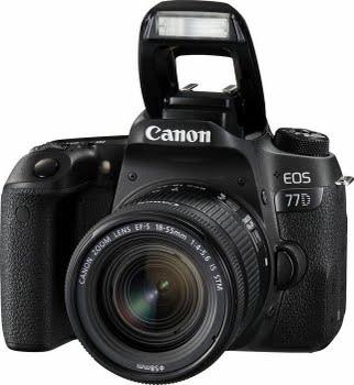 Canon EOS 77D + 18-55mm F4.0-5.6 IS STM 24.2MP CMOS 6000 x 4000Pixels Zwart