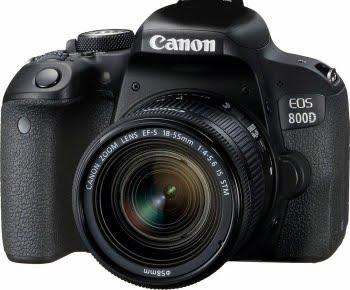 Canon EOS 800D + EF-S 18-55mm 4.0-5.6 IS STM SLR camerakit 24.2MP CMOS 6000 x 4000Pixels Zwart