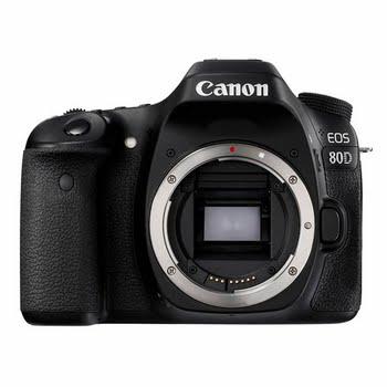 Canon EOS 80D 24.2MP CMOS 6000 x 4000Pixels Zwart