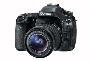 Canon EOS 80D + EF-S 18-55 IS STM 24.2MP CMOS 6000 x 4000Pixels Zwart