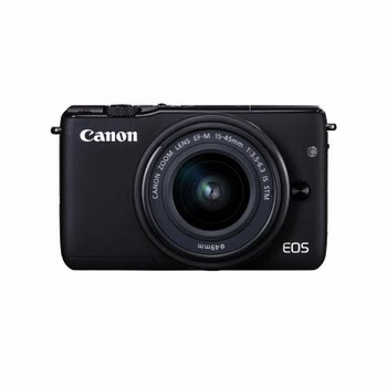 Canon EOS M10 + EF-M 15-45mm f/3.5-6.3 IS STM 18MP CMOS 5184 x 3456Pixels Zwart