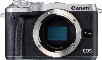 Canon EOS M6 MILC Body 24.2MP CMOS 6000 x 4000Pixels Zwart, Zilver