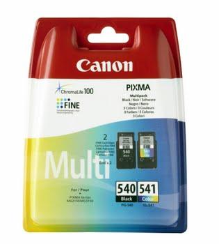 Canon PG-540/CL-541 Multi pack Zwart, Cyaan, Geel