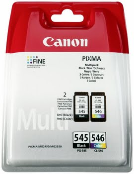 Canon PG-545/CL-546 Multipack Zwart, Cyaan, Geel