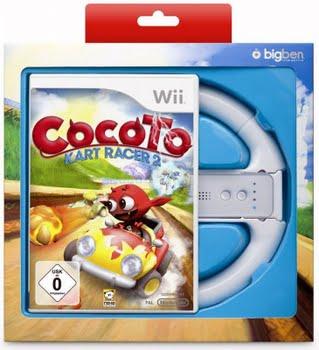 Cocoto Kart Racer 2 + Wheel (Bundel) (Nintendo Wii)