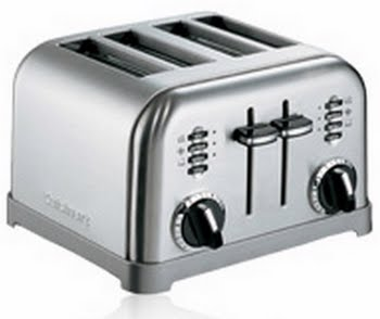 Cuisinart CPT180E 4snede(n) 1800W Roestvrijstaal broodrooster