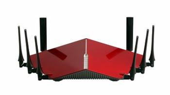 D-Link DIR-895L/R Tri-band (2.4 GHz / 5 GHz / 5 GHz) Gigabit Ethernet Zwart, Rood draadloze router