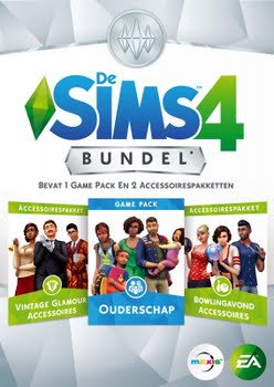 De Sims 4 Bundel Pack 9 (Ouderschap + Vintage Glamour + Bowlingavond) (Code in a Box) (PC)