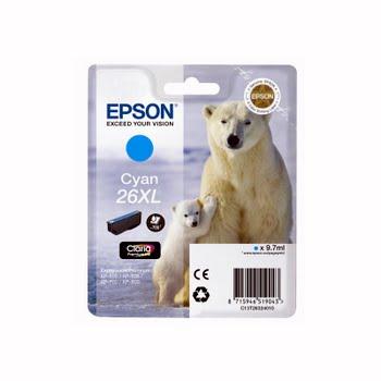 Epson 26 XL Cartridge Cyaan (C13T26324010)