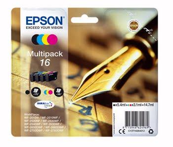 Epson C13T16264012 Zwart, Cyaan, Magenta, Wit inktcartridge