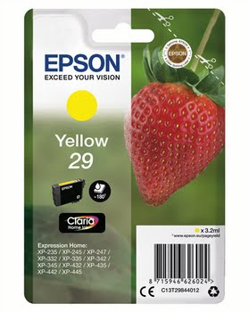 Epson C13T29844012 3.2ml 180pagina's Geel inktcartridge