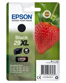 Epson C13T29914012 11.3ml 470pagina's Zwart inktcartridge