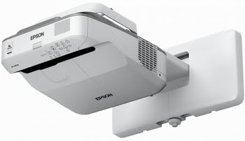 Epson EB-675W Projector met wandmontage 3200ANSI lumens 3LCD WXGA (1280x800) Grijs, Wit beamer/projector