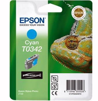 Epson inktpatroon Cyan T0342 Ultra Chrome