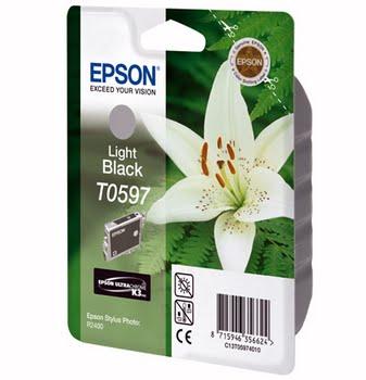 Epson inktpatroon Light Black T0597 Ultra Chrome K3