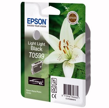 Epson inktpatroon Light Light Black T0599 Ultra Chrome K3
