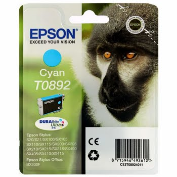 Epson Singlepack Cyan T0892 DURABrite Ultra Ink