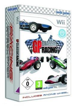 GP Classic Racing + Steering Wheel (Nintendo Wii)