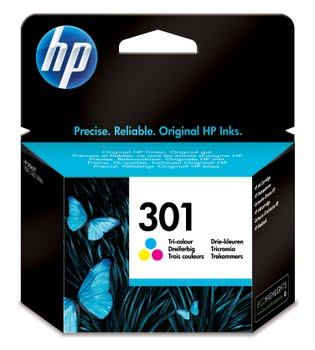 HP 301 originele drie-kleuren inktcartridge