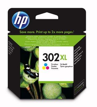 HP 302XL originele high-capacity drie-kleuren inktcartridge