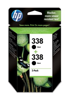 HP 338 originele zwarte inktcartridges, 2-pack