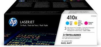 HP 410X originele high-capacity cyaan/magenta/gele LaserJet tonercartridges, 3-pack