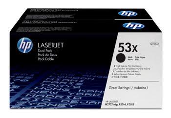 HP 53X originele high-capacity zwarte LaserJet tonercartridge, 2-pack