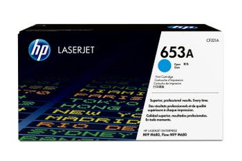 HP 653A originele cyaan LaserJet tonercartridge