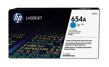 HP 654A originele cyaan LaserJet tonercartridge