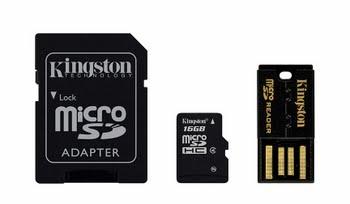 Kingston Technology 16GB Mobility Kit 16GB MicroSDHC Flash Klasse 4 flashgeheugen