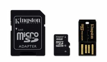 Kingston Technology 16GB Multi Kit 16GB MicroSDHC Flash Klasse 10 flashgeheugen