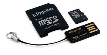 Kingston Technology 32GB Multi Kit 32GB MicroSDHC Flash Klasse 10 flashgeheugen
