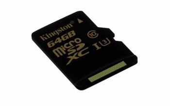 Kingston Technology Gold microSD UHS-I Speed Class 3 (U3) 64GB 64GB MicroSDHC UHS-I Klasse 3 flashgeheugen